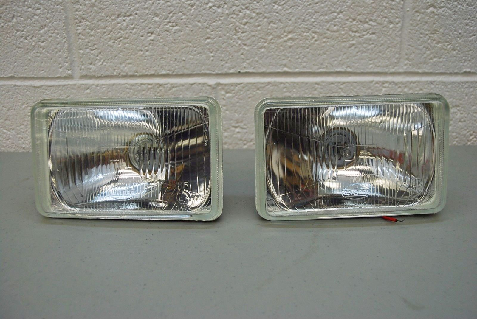 4 x 6 h1 headlights 165mm e code approved pair high beams. Black Bedroom Furniture Sets. Home Design Ideas